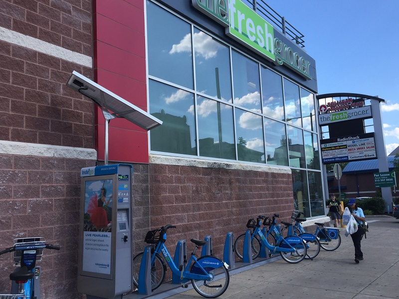 fresh grocer bike share