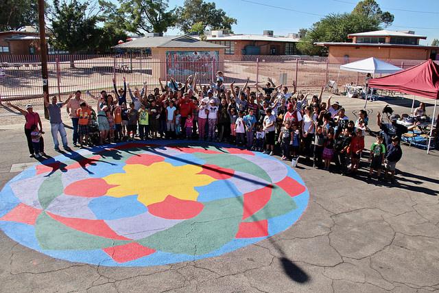 Creating A Playful Walking Corridor At Pueblo Gardens Prek