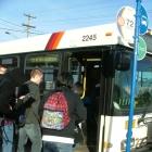 Students loading transit